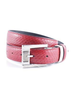 Nanni Cintura di pelle rosso mattone motivo animale stile da moda di strada