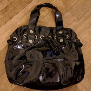 Nannini Lackleder Tasche groß schwarz neuwertig