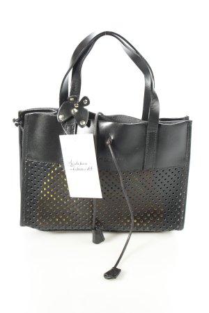 Nannini Minitasche schwarz-gelb schlichter Stil
