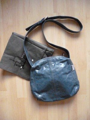 Nannini Umhängetasche aus Leder in Blau