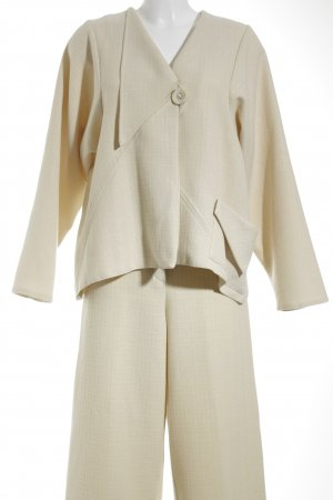 NAOMI Trouser Suit cream business style