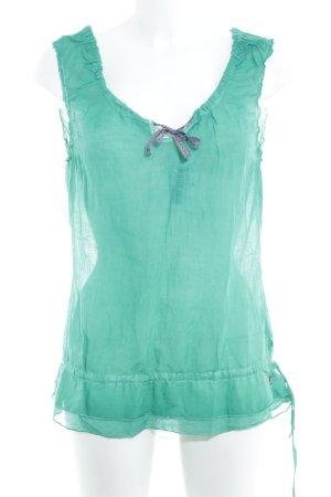 Napapijri ärmellose Bluse waldgrün-graublau Casual-Look