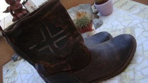 NAPAPIJRI BOOTS STIEFEL LEDER COUNTRY COWBOY WESTERN 36/37 NEU NP170€ Gerne Preisvorschlag!!!