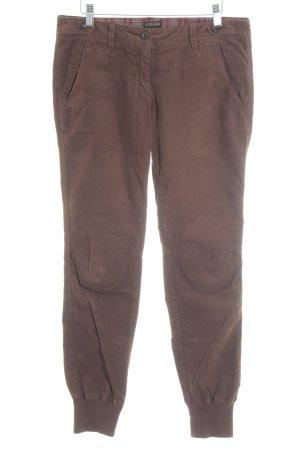 Napapijri Pantalone di velluto a coste marrone stile casual