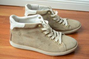 Napapijri Damen Sneakers, beige, Gr. 37, neuwertig