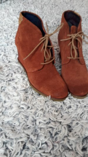 Napapijri Damen Stiefeletten Keil-Boots Gr. 40 ECHTLEDER