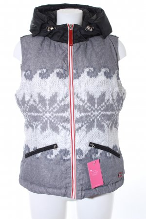 Napapijri Daunenweste grau-weiß Farbverlauf Casual-Look