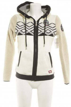 Napapijri Fleece Jackets cream-black street-fashion look