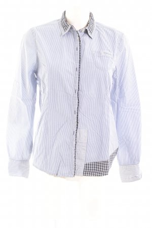 Napapijri Hemd-Bluse stahlblau-weiß Karomuster Casual-Look
