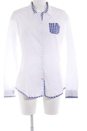 Napapijri Hemd-Bluse weiß-blau Karomuster Business-Look