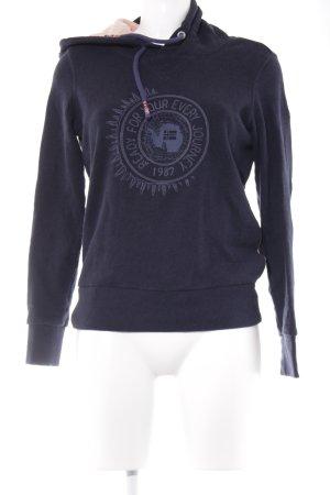 Napapijri Kapuzensweatshirt dunkelblau-altrosa Schriftzug gestickt Casual-Look