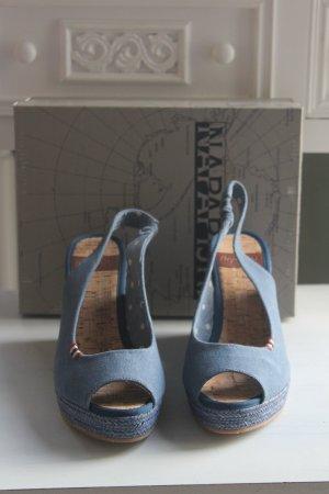 Napapijri Sandalias de tacón de tiras azul acero