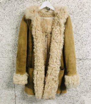 Napapijri Leather Coat natural white-sand brown