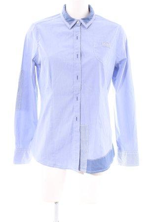 Napapijri Langarm-Bluse blau Karomuster Casual-Look