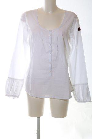 Napapijri Langarm-Bluse weiß Schriftzug gedruckt Casual-Look