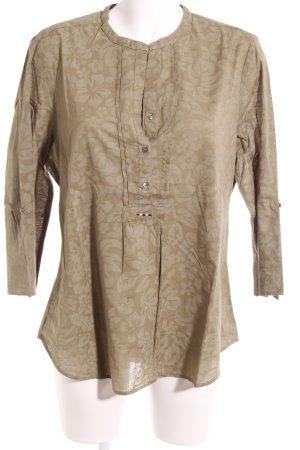 Napapijri Langarm-Bluse khaki-olivgrün florales Muster Boho-Look