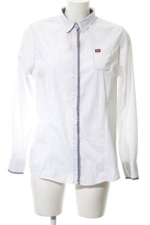 Napapijri Langarm-Bluse weiß-graublau Elegant