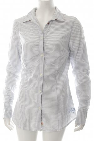 Napapijri Langarm-Bluse weiß-hellblau Streifenmuster