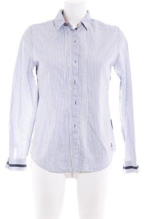 Napapijri Langarm-Bluse weiß-stahlblau Streifenmuster Casual-Look