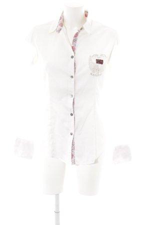Napapijri Langarm-Bluse wollweiß Motivdruck klassischer Stil