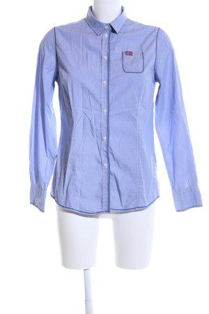 Napapijri Langarmhemd blau meliert Casual-Look