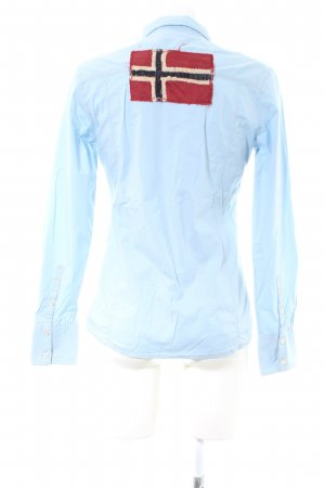 Napapijri Camicia a maniche lunghe blu Stampa a tema stile casual