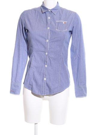 Napapijri Langarmhemd blau-weiß Casual-Look
