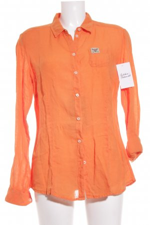 Napapijri Langarmhemd orange Casual-Look