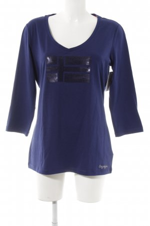 Napapijri Camisa larga azul oscuro estampado temático look casual
