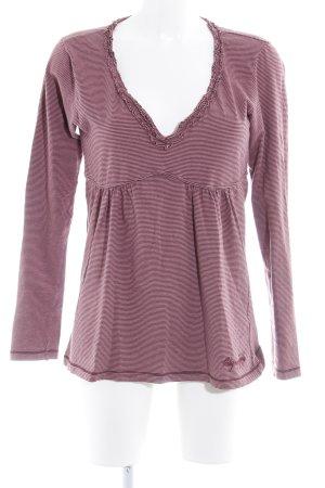 Napapijri Longsleeve purpur-pink Streifenmuster Casual-Look