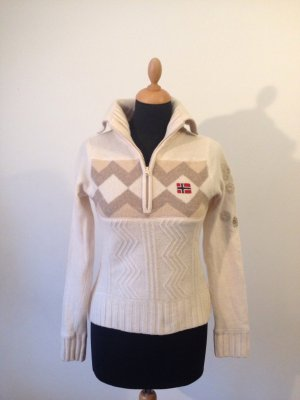 Napapijri  Norweger S M fällt kleiner aus 100% Wolle Troyer Rollkragen Pullover