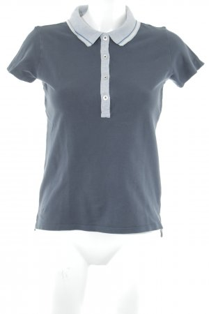Napapijri Polo-Shirt dunkelblau-hellgrau Casual-Look