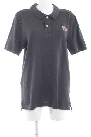 Napapijri Polo-Shirt dunkelgrau-rot sportlicher Stil