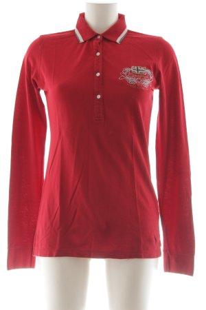 Napapijri Polo-Shirt rot Casual-Look