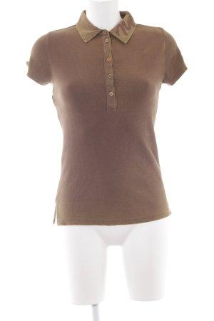 Napapijri Polo-Shirt ocker-camel Schriftzug gestickt schlichter Stil