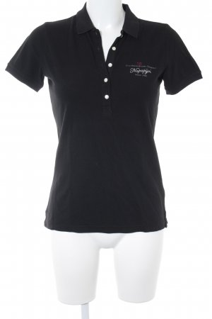 Napapijri Polo-Shirt schwarz sportlicher Stil