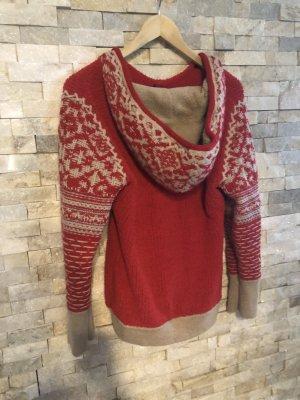 Napapijri Norwegian Sweater red-brick red wool