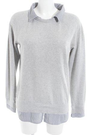Napapijri Pullover Twin Set grau-dunkelblau Streifenmuster Casual-Look