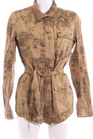 Napapijri Safari Jacket brown flower pattern casual look
