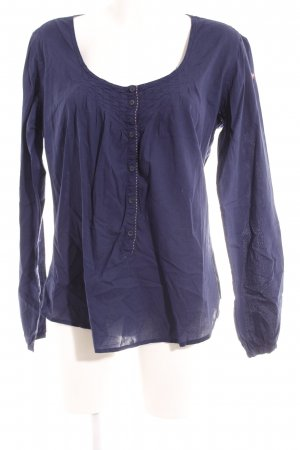 Napapijri Schlupf-Bluse blau Schriftzug gedruckt Casual-Look