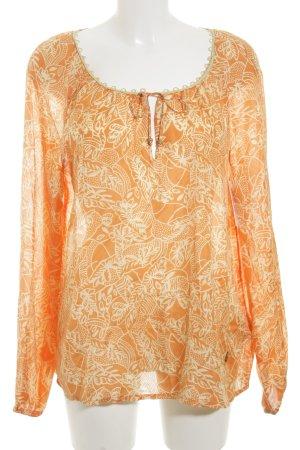 Napapijri Seidenbluse orange-creme Casual-Look