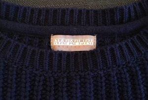 Napapijri Strickpullover Pulli mit Wolle in marine blau