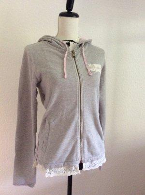 Napapijri Giacca fitness grigio chiaro-rosa chiaro