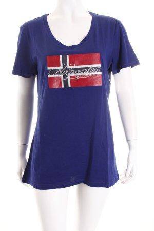 Napapijri T-Shirt blau-rot Casual-Look