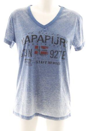 Napapijri T-Shirt kornblumenblau Casual-Look