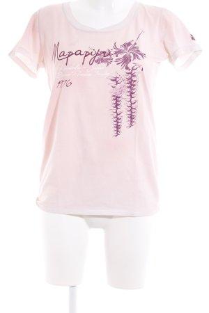 Napapijri T-Shirt rosé Motivdruck Casual-Look