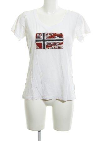 Napapijri T-Shirt wollweiß Motivdruck schlichter Stil