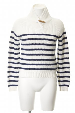 Napapijri Sailor Sweater natural white-dark blue horizontal stripes casual look