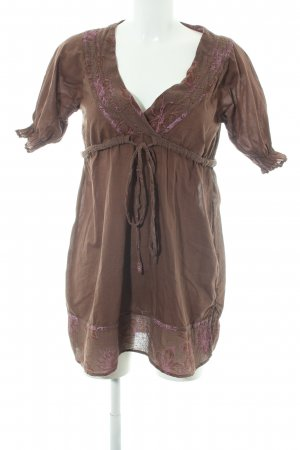 Napapijri Tunic Dress brown-pink flower pattern casual look