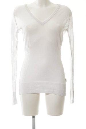 Napapijri V-Ausschnitt-Pullover weiß Casual-Look